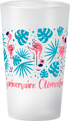 gobelet Anniversaire Fille Theme Flamant rose Clementine