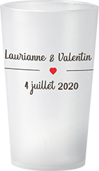 gobelet Mariage Laurianne & Valentin