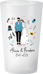 gobelet Mariage-Personnage-Alice&Frederic