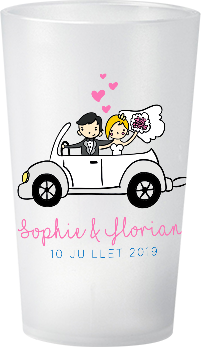 gobelet Mariage-Personnage-Sophie&Florian